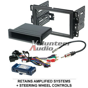 Car-Radio-Stereo-CD-Player-Dash-Install-Mounting-Trim-Bezel-Panel-Kit-Harness