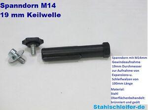 Spanndorn-Aufnahmedorn-Satinierwalze-M14-Satiniermaschine-Flex-Metabo
