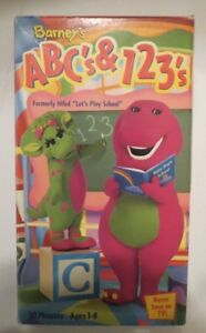 Barneys Abcs 123s Lets Play School Vhs 2000 Ages 1 8