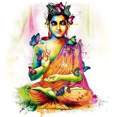 Patrice Murciano: Siddhartha Fertig-Bild 50x50 Wandbild bunt modern Buddha Kult