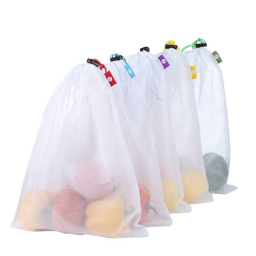 5pcs Reusable Grocery Bags Produce Fruit Bag Eco Friendly Shopping Mesh Bags Set