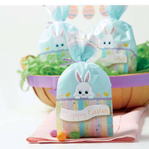 "40 Wilton 4/"" x 9.5/"" x 2/"" Cellophane Happy Easter Bunny Party Treat Favor Bags"