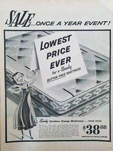 1958-Sealy-golden-Sleep-mattress-vintage-bed-bedding-ad