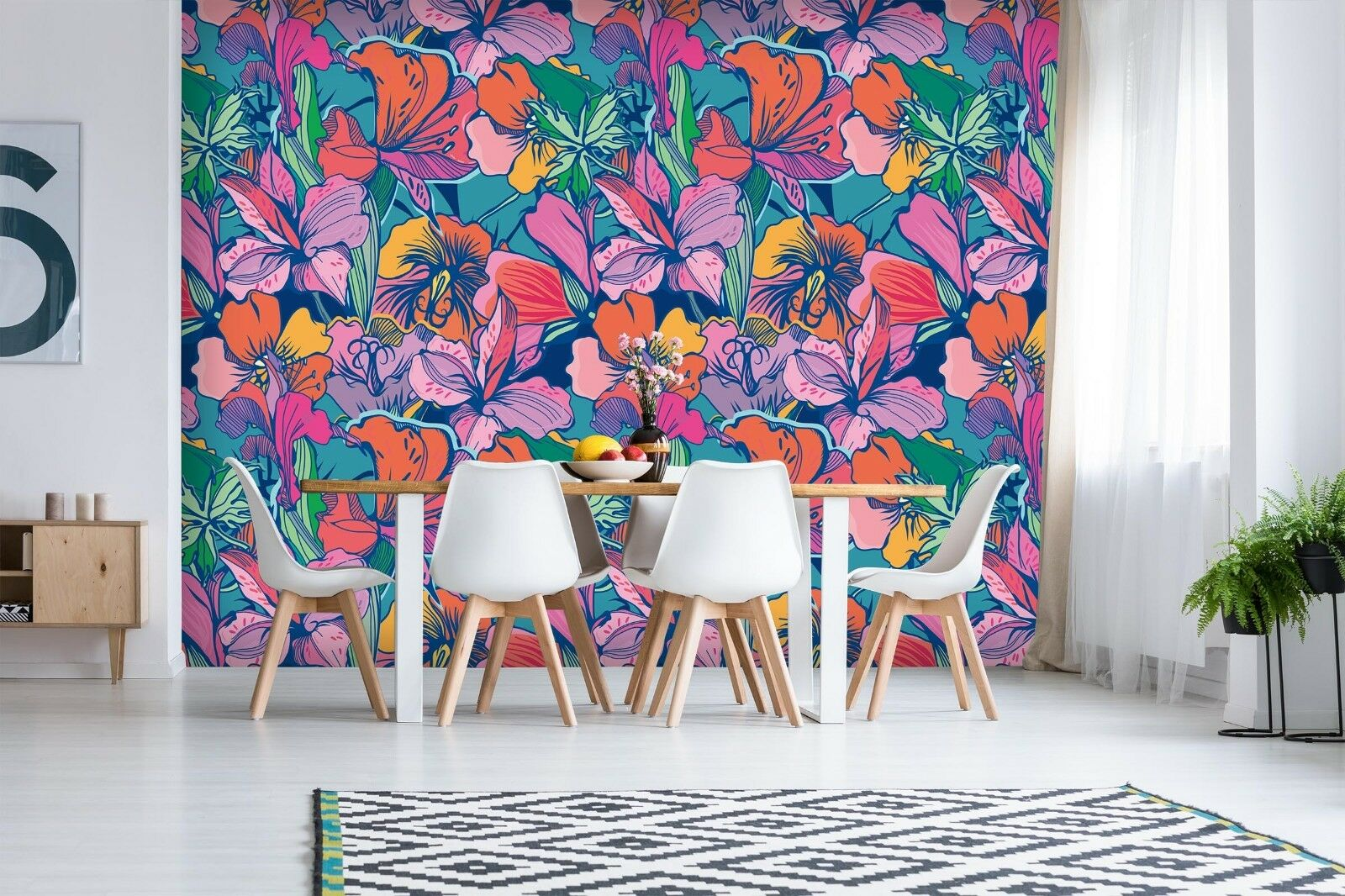 3D Bright Farbe Flowers 44 Wall Paper Wall Print Decal Wall Deco Indoor Murals