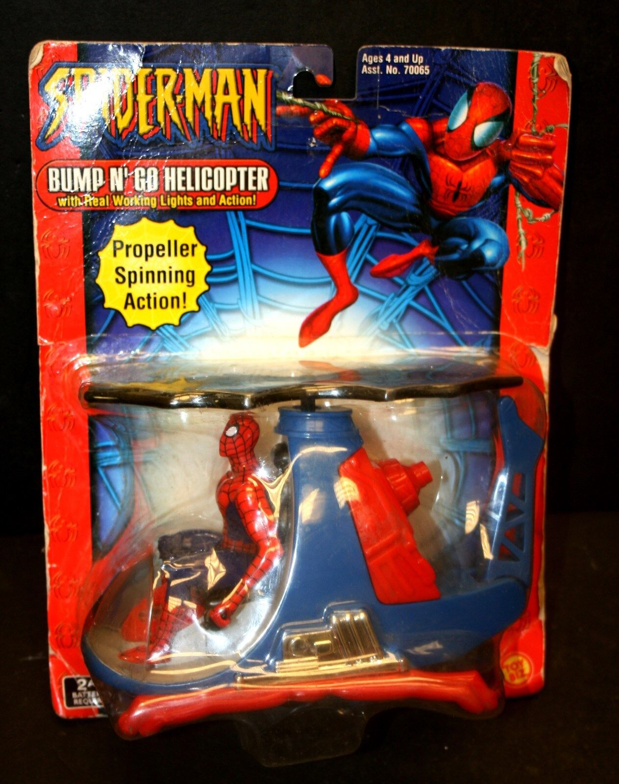 The Amazing Spider-man Bump n Go Helicopter  Toy Biz, Marvel