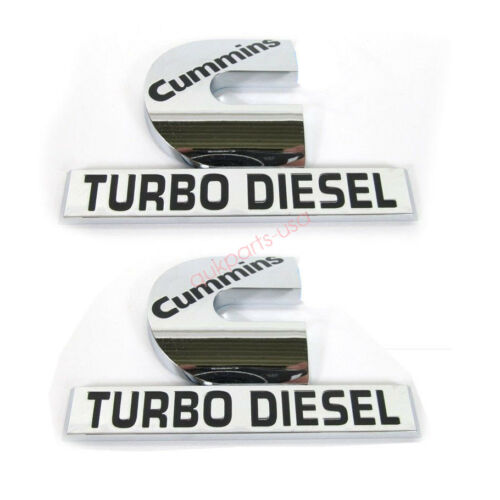 2x OEM Cummins Turbo Diesel HIGH OUTPUT Emblem Decal Dodge Ram 2500 3500 A