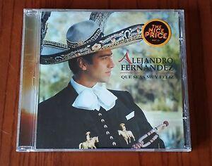 Alejandro Fernandez Que Seas Muy Feliz Cd Come Nuovo Mint Ebay