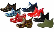 New Women's Short Rain Boots Garden Ankle Shoes Fashion Print Colors, Size: 5-10