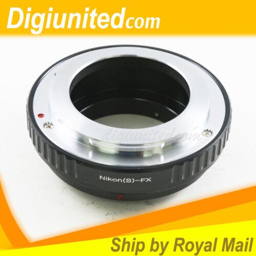 Nikon S RF Mount Lens to Fujifilm Fuji X-Pro1 X-E1 FX Adapter A1 E1 E2 M1 T1 T10