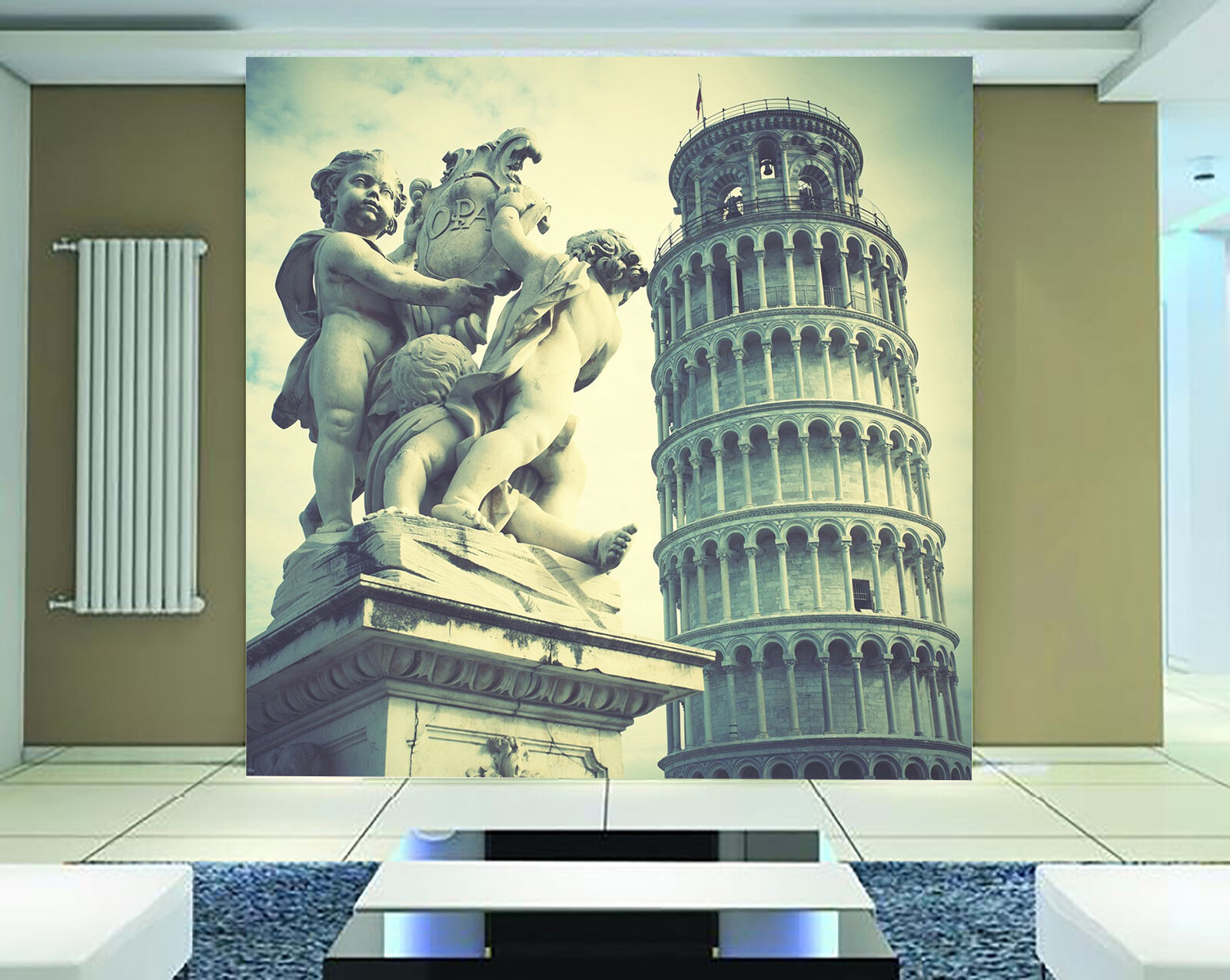 3D Leaning Tower Wall Paper Wall Print Decal Wall Deco Indoor Wall Murals