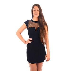 best website ad49d dc90d Dettagli su Mini abito donna sexy vestitino elasticizzato tubino smanicato  7DEABI019