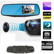 Dual Camera Car Dvr Camera Rearview Mirror Dash Cam G-Sensor HD 1080P 4.3''