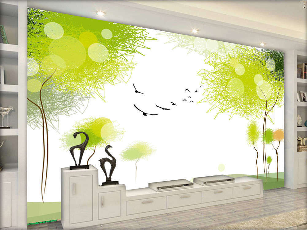 Bright Vivid Woods 3D Full Wall Mural Photo Wallpaper Printing Home Kids Decor