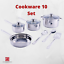 Cookware-Set-Non-Stick-Stainless-Steel-10-18-Piece-Pieces-Pots-and-Pans thumbnail 2