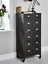 thumbnail 3 - Cox & Cox Office Stylish Black Industrial Style Iron Cabinet - RRP £395