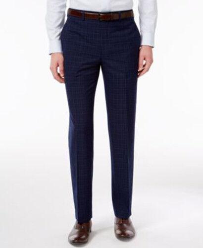 Lauren Ralph Lauren Mens RLR Classic Fit Navy Windowpane Dress Pants 42x30