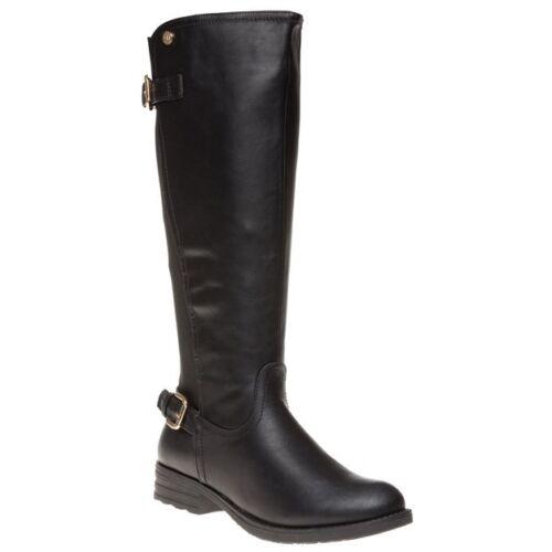 New Synthetic Kniehoher 73955 Xti Schnallenreißverschluss Womens Boots Black qIxrqFAZwB