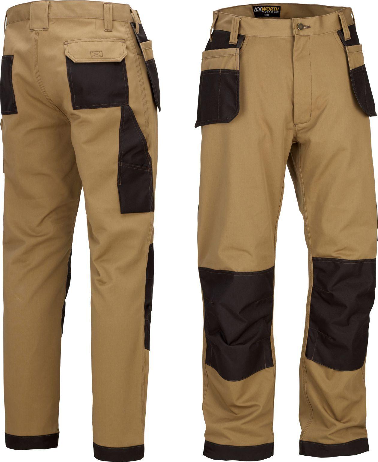 Heavy Duty Pro Pantalones de Trabajo con Rodillera /& Funda Varios Bolsillos Cargo Estilo