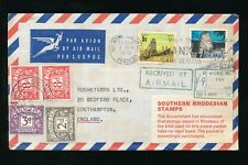 POSTAGE DUE GB on RHODESIA UDI INCOMING 8d + 8d + 3d + 2d...AIRMAIL HANDSTAMP