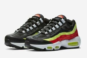 Details about NIKE Air Max 95 Women's scarpa Black White Habanero Red Volt 307960 019 sz 7 10