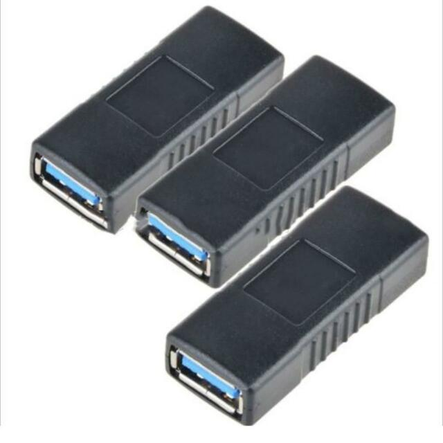 USB 3.0 Female to Female Connector Adapter Coupler Gender Changer Hub Useful  AU