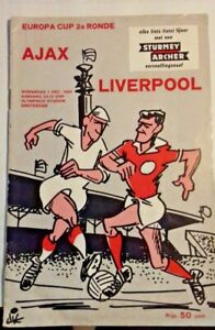 Ajax v Liverpool European Cup Match Programme 2nd Round ...