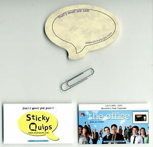 034-The-Office-034-screen-used-Paper-Clip-plus-Sticky-Quips-Speech-Bubble-Balloon
