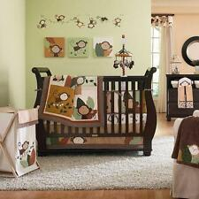 Carter's Monkey Bars Crib Bedding Quilt Bumper Sheet Dust Ruffle Green Brown NEW