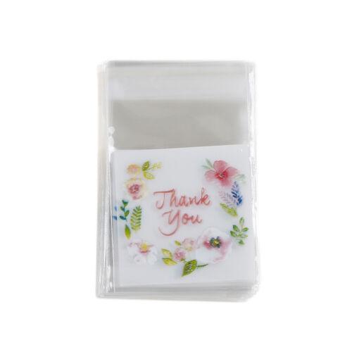 100X Danke Süßigkeit Keks Taschen Party-Craft Selbstklebende Biscuit GeschenkPD