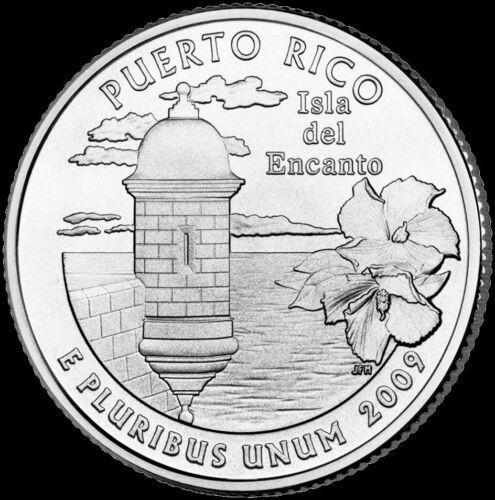"""2009 D Puerto Rico Territorial Quarter U.S Mint /""""Brilliant Uncirculated/"""" Coin"""