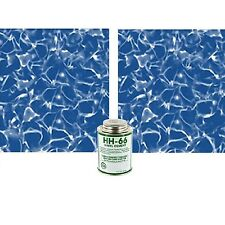 "Swimming Pool Patch Liner Kit 2pc Vinyl 1'x8"" Inground Above Ground Repair Parts"