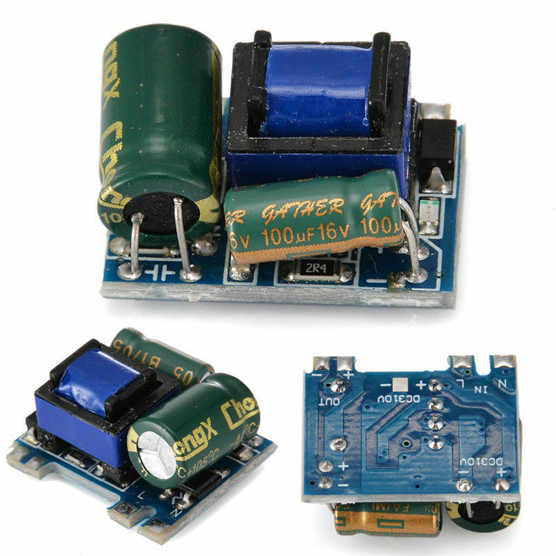 Pukido New AC-DC 220 to 5V//12V 5V 600mA Isolated Switching Power Supply Module Power Supply Plug Type: Universal