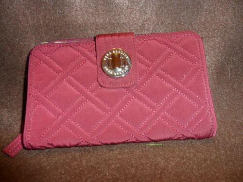 Vera Bradley turnlock wallet in Raisin
