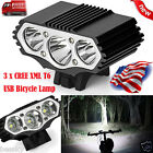 12000 Lm 3X XML T6 LED Bicycle Front Lamp Light Headlight Cycling Headlamp Torch