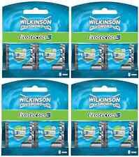 New Genuine Wilkinson Sword Mens Protector 3 Razor Blades - 32 Pack Refill
