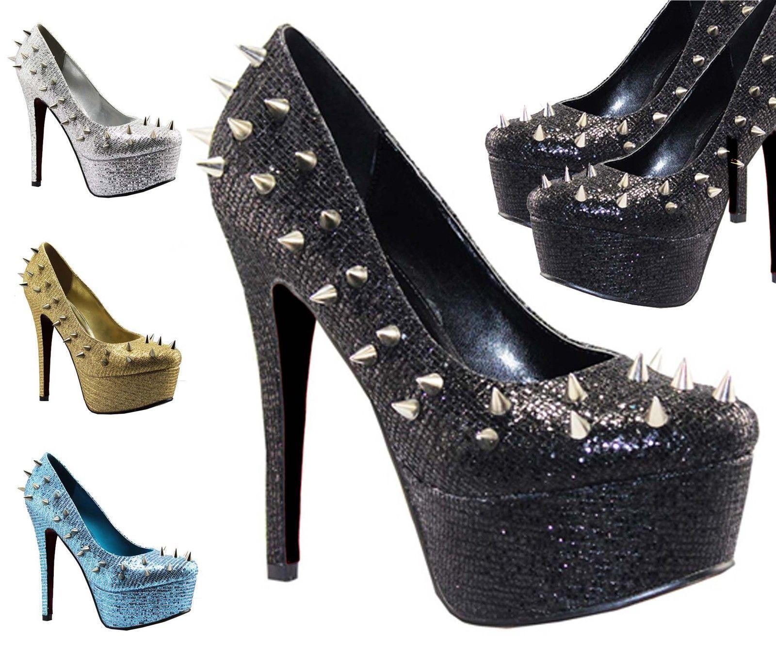Tacón Stiletto Mujer Plataforma Pinchos Tachones Zapatos De Salón Mujer