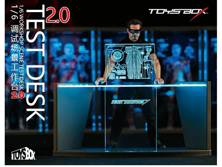 TOYS BOX 1/6 Iron Man Workshop Scene Test Desk 2.0 for12