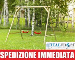 Altalena da giardino per bambini giochi in legno di abete for Altalena da giardino per bambini chicco