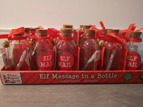 Elf Mail Elf Message In A Bottle Glass