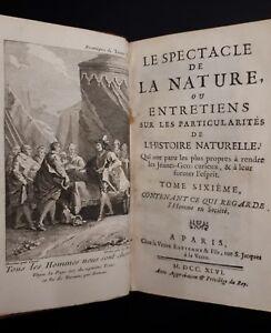 Abbe-Noel-Antoine-Pluche-Le-spectacle-de-la-nature-Tome-sixieme-Parigi-1746