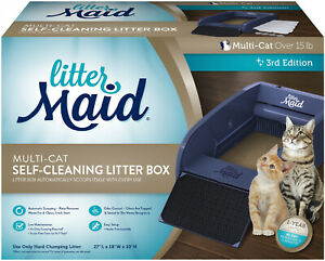 Littermaid-Automatic-Self-Cleaning-Litter-Box-Cat-Pet-Kitty-Pan-Scoop-Multi-Cats