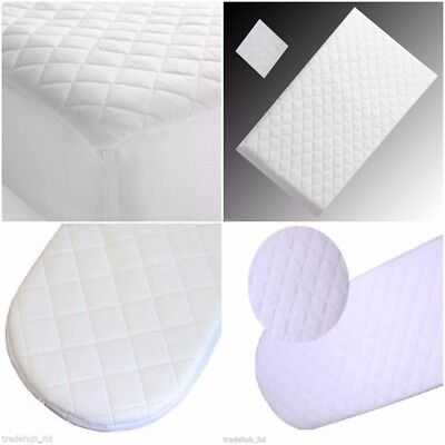 MOSES BASKET FOAM MATTRESS BASSINET BABY PRAM BREATHABLE QUILTED 68 X 30 X 3.5cm