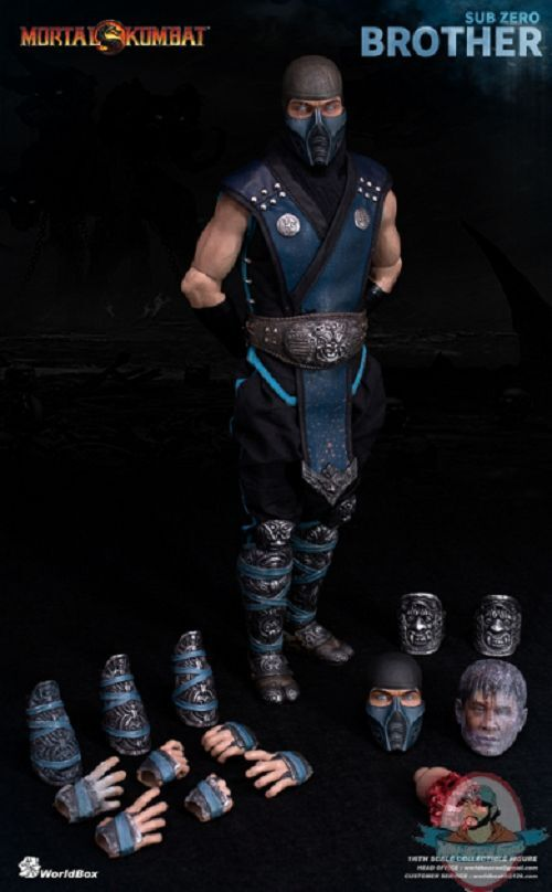 1/6 Mortal Kombat Sub-Zero Brother Limited Edition Figure Worldbox