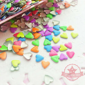 200-pcs-Mix-of-neon-colors-4mm-Heart-shape-nail-studs-3D-Nail-Design