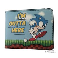 Sonic The Hedgehog I'm Outta Here Sega Gamer Licensed Adult Bi-fold Wallet