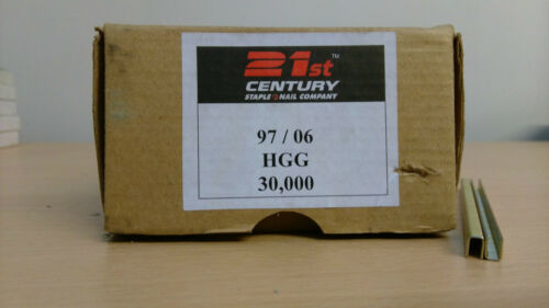 21st CENTURY 97//08MM GALVANISED STAPLES 30,000 STAPLES PER BOX