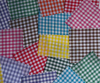"1/4"" Gingham Fabric  Bundle 50 x 5"" Squares Patchwork~Quilting~Sewing~Craft"