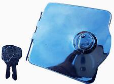 ukscooters LAMBRETTA PETROL TANK CAP OUTER FLAP COVER W KEYS LI S3 TV SX CHROME