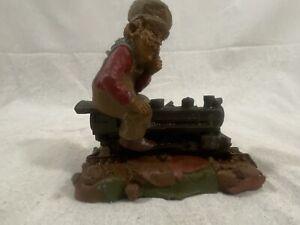 1986-Tom-Clark-Gnome-CHIEF-72-Railroad-Train-Engineer-Figure-Cairn-Studio