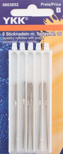 YKK Sticknadeln mit Spitze No.16 Handarbeit Nadel 6 Stück